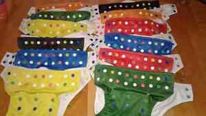 12 Glow Bugs diapers