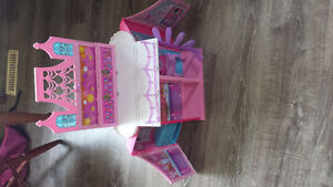 Barbie castle with barbies