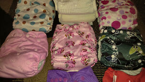 Used cloth diapers and inserts