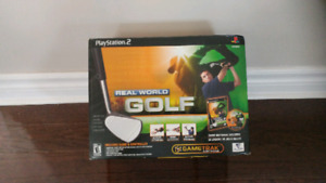 Real world golf game