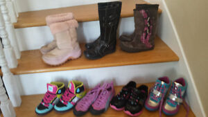 girls sneakers and girls boots