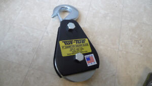 "Tuf-Tug New 4"" Diameter Sheave Block 3000lb 3/8"" Cable Made USA"