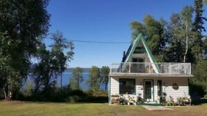Home for sale with 5 acres and lake front - Fraser Lake