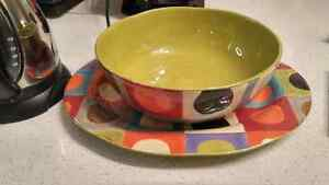 Pier One Decorative Serving Platter and Bowl London Ontario image 1