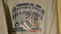 "1999 HOCKEY SWEATER ""Opening Night"" LEAFS vs. CANADIENS *Large*"