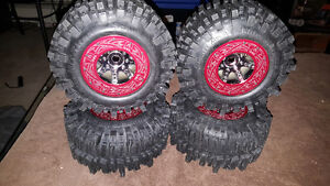 Mud Slingers monster size with Axial bead locks Axial trim rings
