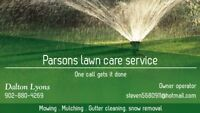 Mowing and lawn care services