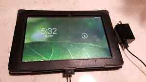 ASUS TF101 with leather stand case, screen protector, charger