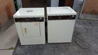 Apt. size washer and dryer 150.00, pair, almond colour, delivery