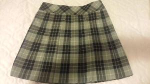 Black/grey school girl type plaid skirt