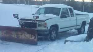 1998 gmc  sierra snow Plow
