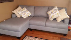 2piece Chaise Sectional Grey Ashely Furniture
