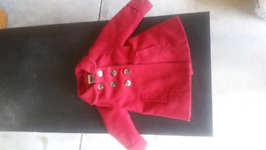 Size 2T red peacoat