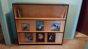 Custom made bookcase. Solid wood.