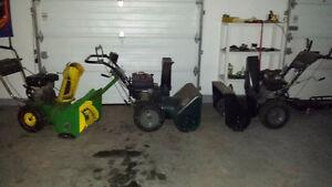 3 snowblowers for sale