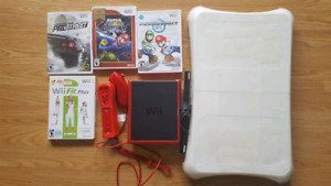 Nintendo Wii player with all necessary accessories