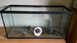 30 Gallon Tank w/Heat Pad & Lamp