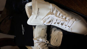 NEW! Saint Laurent Paris White Shoes