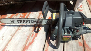 Sears Craftsman Chain Saw Used Few Hours Mint