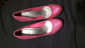 Pink glitter heels Windsor Region Ontario image 2