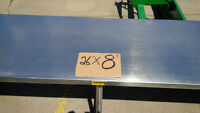 "Stainless steel heavy gauge table 26"" x 8'"