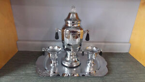 Vintage 1940s Faberware Chrome Coffee Urn