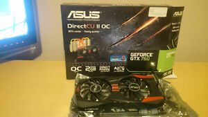 Lightly used Asus GTX-760 2 GB Strix graphics card