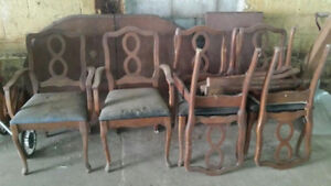 Antique Dining Table & Chairs --  50yrs Old