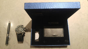 Bella & Ross Watch, business card holder and pen gift set