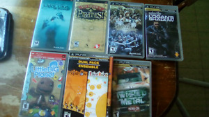 PlayStation portable with 8 games 60$