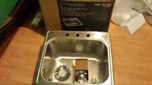 Glacier Bay stainless steel sink