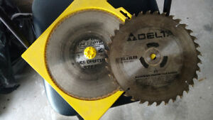 2- table saw blades