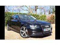 Audi A4 2.0 TDI SE in Phantom Black with titanium rotor alloys