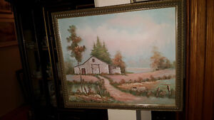 Beautiful original oil on canvas 20 by 24 original Rural Landsca