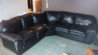 Sectional leather couch
