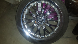 17inch chrome rims with low profile tires