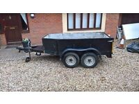 Twin axle heavy duty car trailer