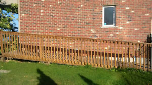 Wood ramp for wheelchair, scooter or small deck/porch