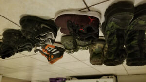 Kids shoes for sale 7 pairs plus winter boots..