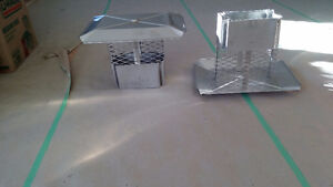 2 Stainless Steel Chimney Rain Caps - Slightly Used