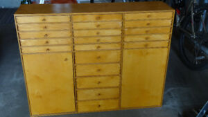 shelf / small cupboard with lots of drawers