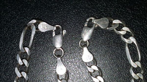 925 Italian silver chain 18 `` and bracelet