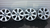 4 BMW 16 inch aluminum rims 16x5x120