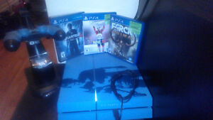 PS4, Controller, controller charger stand, 3 games...all new Moose Jaw Regina Area image 1