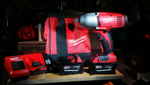 "Milwaukee M18 1/2"" Hi-Torque Impact Wrench Kit (NEW)"