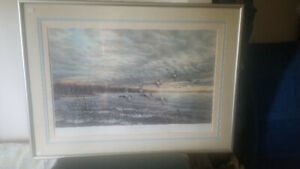 'Pursuers at Dawn-Redeheads', Wee Lee, Silver Framed