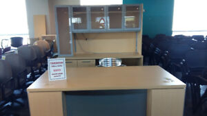SATURDAY, MAY 26 BLOWOUT SALE -- ALL USED DESKS