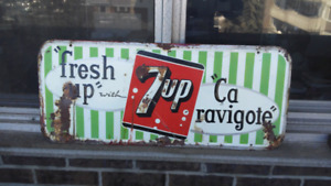 Enseigne 7up metal advertising sign