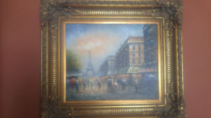 Cadre décoratif tableau peinture antique