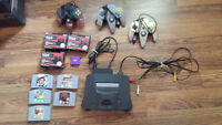 N64 Nintendo 64 Bundle Lot 3 controllers, 5 games